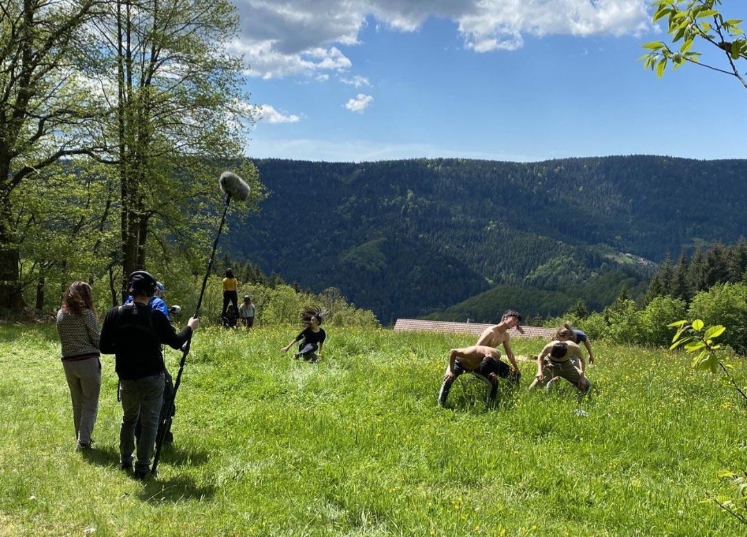Dreharbeiten auf dem Braunberg